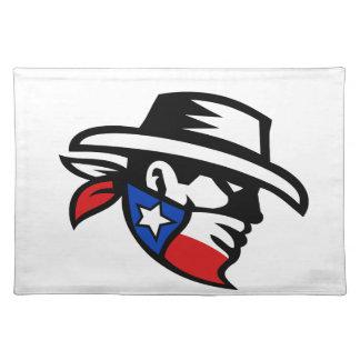 Texas Bandit Cowboy Side Retro Placemat