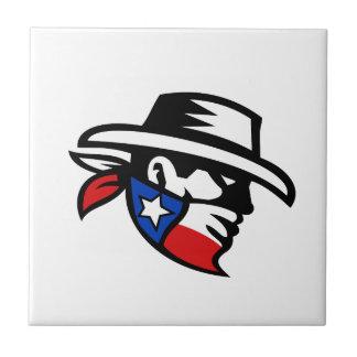 Texas Bandit Cowboy Side Retro Tile