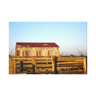 Texas Barn and Corral Canvas Print