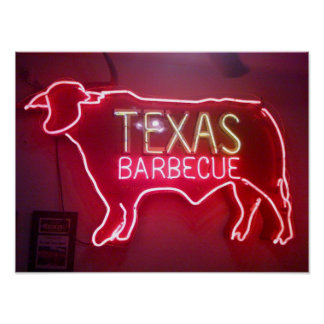 """Texas BBQ"" Poster"