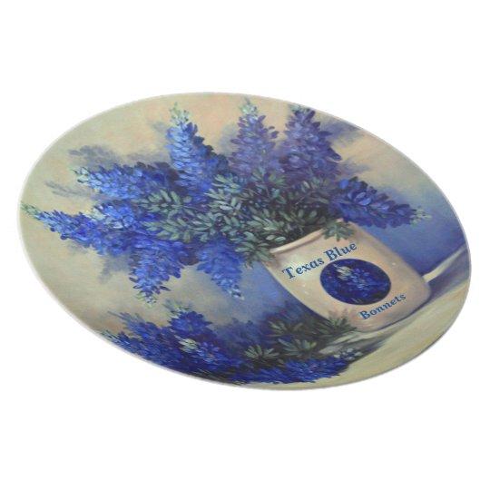 Texas Blue Bonnets Melamine Plate