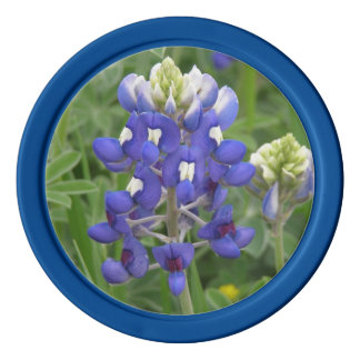 Texas Bluebonnet Poker Chips