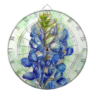 Texas Bluebonnet Wildflower Drawing Dart Boards