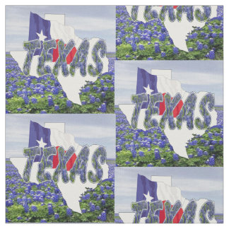 Texas Bluebonnets Flag and Landscape Fabric 4.5""