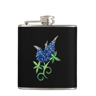 texas bluebonnets hip flask