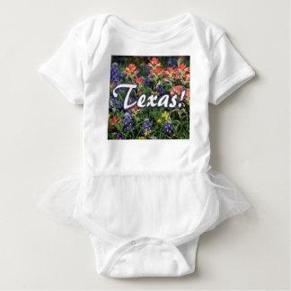 Texas Bluebonnets Paintbrushes Baby Bodysuit