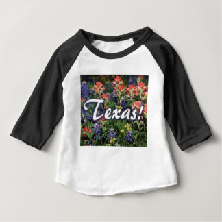 Texas Bluebonnets Paintbrushes Baby T-Shirt