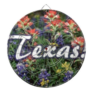 Texas Bluebonnets Paintbrushes Dartboard