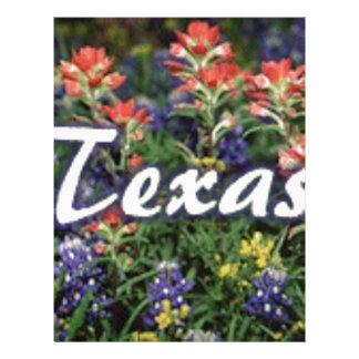 Texas Bluebonnets Paintbrushes Letterhead