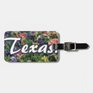 Texas Bluebonnets Paintbrushes Luggage Tag