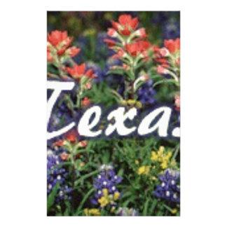 Texas Bluebonnets Paintbrushes Stationery