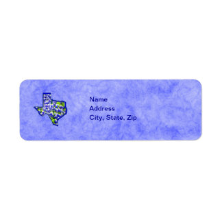 TEXAS BLUEBONNETS RETURN ADDRESS LABEL