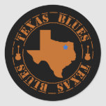Texas Blues Stickers