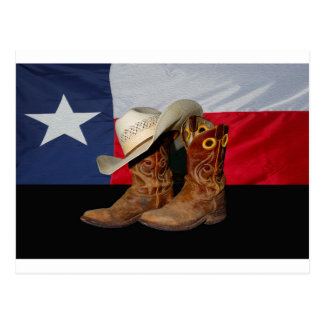 Texas Boots and Hat.jpg Postcard