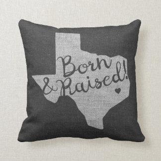 Texas Born and Raised Throw Pillow