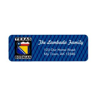 Texas Bosnian American Address Labels