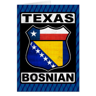 Texas Bosnian American Card