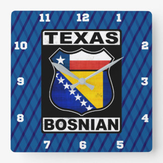 Texas Bosnian American Sign Clock