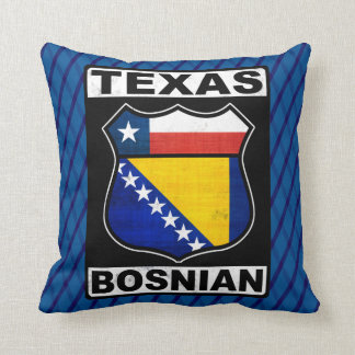 Texas Bosnian American Sign Cushion