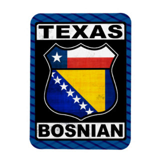 Texas Bosnian American Sign Magnet