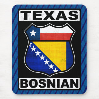 Texas Bosnian American Sign Mousemat Mouse Pad