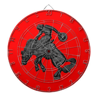 Texas Bucking Horse Cowboy .jpg Dartboard