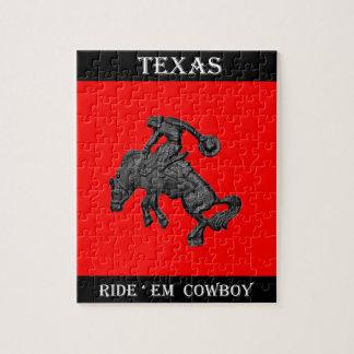 Texas Bucking Horse Cowboy .jpg Jigsaw Puzzle
