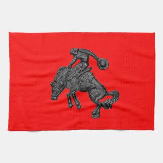 Texas Bucking Horse Cowboy .jpg Kitchen Towel