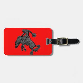 Texas Bucking Horse Cowboy .jpg Luggage Tag