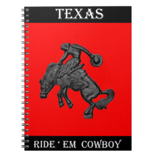 Texas Bucking Horse Cowboy .jpg Notebook