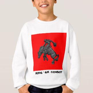 Texas Bucking Horse Cowboy .jpg Sweatshirt