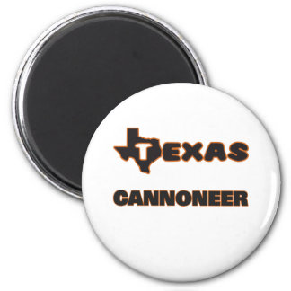 Texas Cannoneer 2 Inch Round Magnet