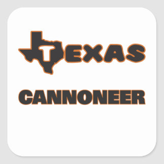 Texas Cannoneer Square Sticker