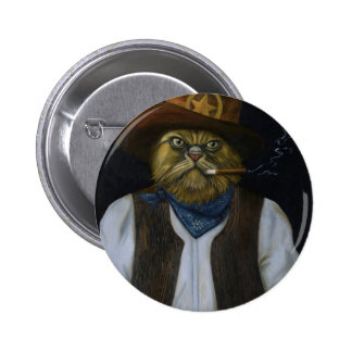 Texas Cat with an Attitude 2 Inch Round Button