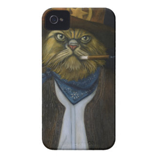 Texas Cat with an Attitude iPhone 4 Case-Mate Cases