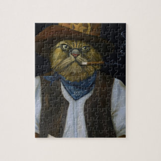 Texas Cat with an Attitude Jigsaw Puzzle