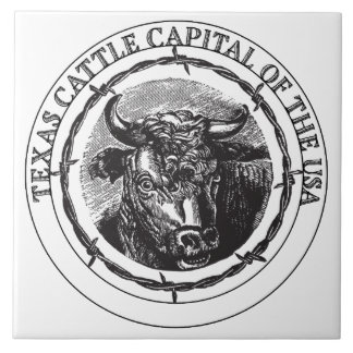 Texas Cattle Capital of the USA tile