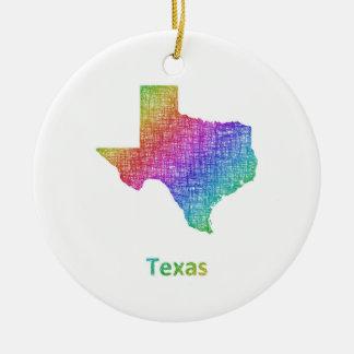 Texas Ceramic Ornament