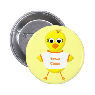 Texas Chick Cute Cartoon Chicken 2 Inch Round Button