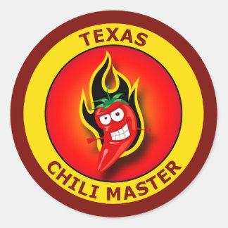 TEXAS CHILI MASTER CLASSIC ROUND STICKER