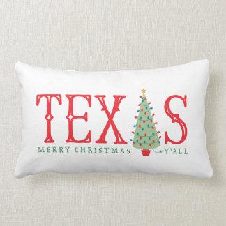 Texas Christmas Tree Throw Pillow
