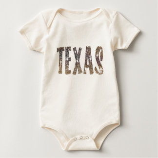 Texas Coffee and Stars Baby Bodysuit