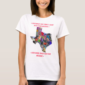 Texas Colorful Customizable T-Shirt - Customized