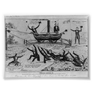 Texas Coming In, 1844 Poster