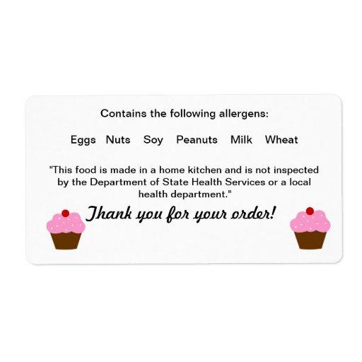 Texas Cottage Food Law Label Zazzle