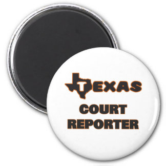 Texas Court Reporter 2 Inch Round Magnet