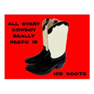 Texas Cowboy Boots 2 .jpg Postcard