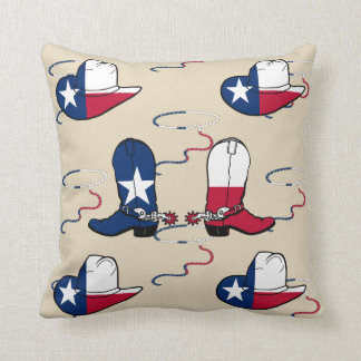 Texas Cowboy Boots And Hats Throw Pillow