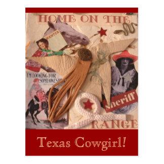 Texas Cowgirl Postcard