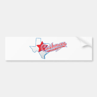 Texas Cushman Club Designs Bumper Sticker